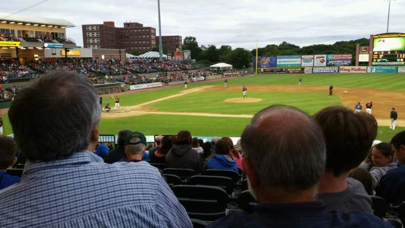 Seating view for Bethpage Ballpark Section 208 Row V Seat 15