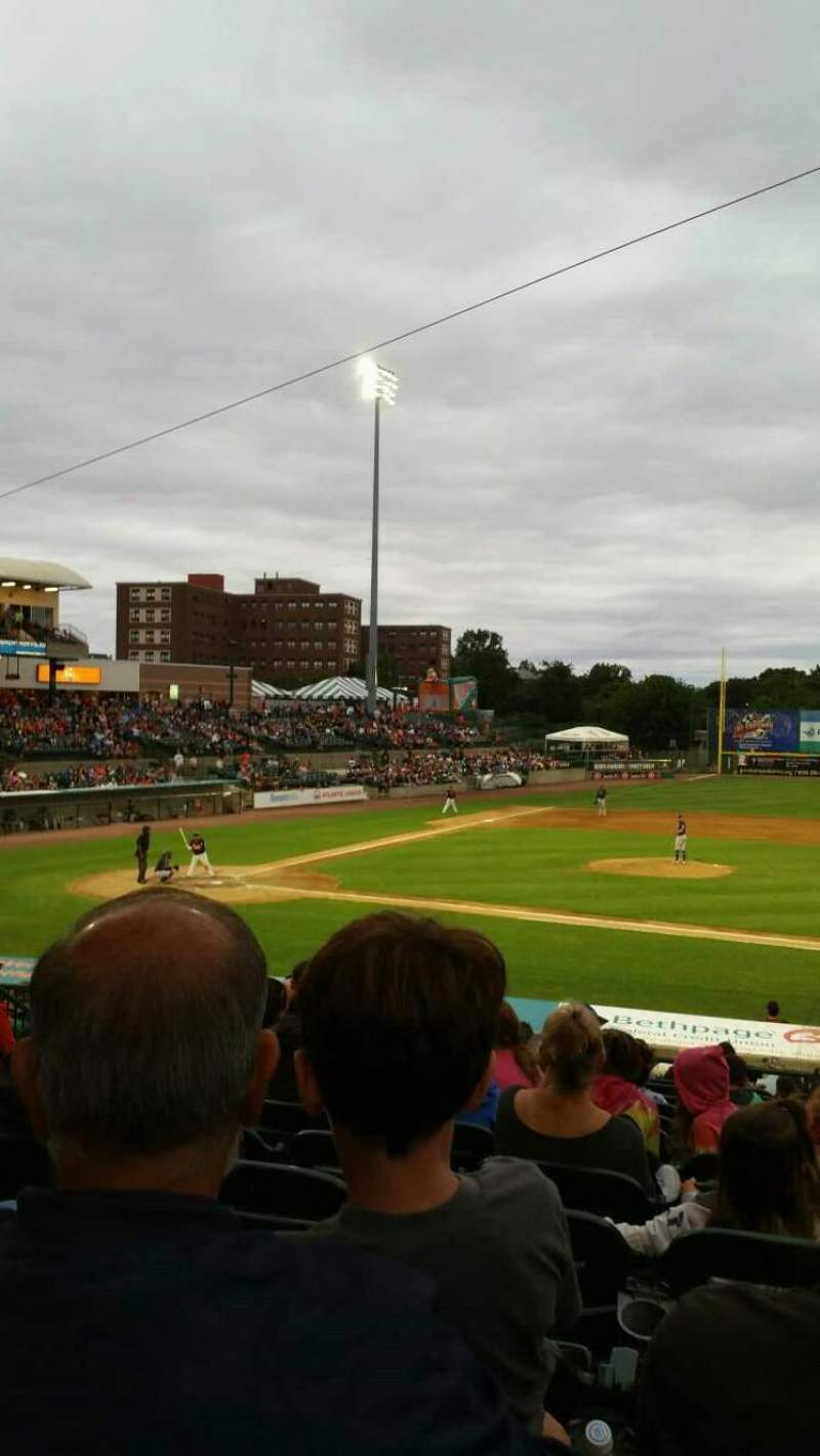 Seating view for Bethpage Ballpark Section 208 Row V Seat 13