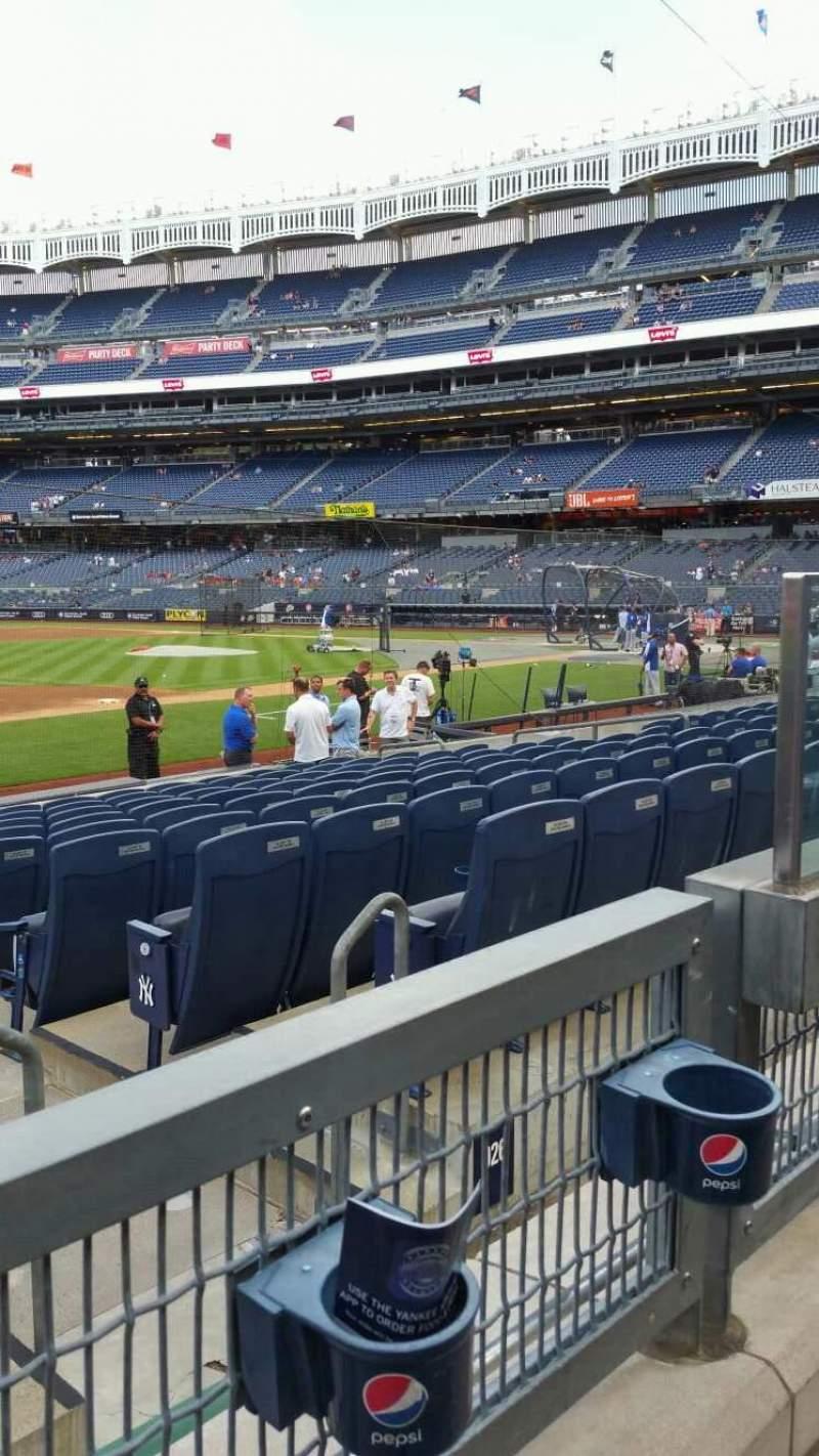 Yankee Stadium, section: 127A, row: 1, seat: 3
