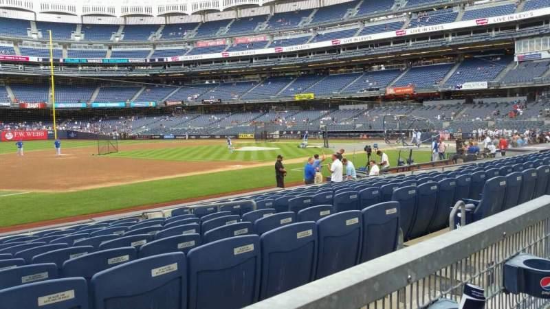 Yankee Stadium, section: 127A, row: 1, seat: 8