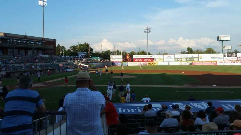 TD Bank Ballpark, section: 211, row: K, seat: 18