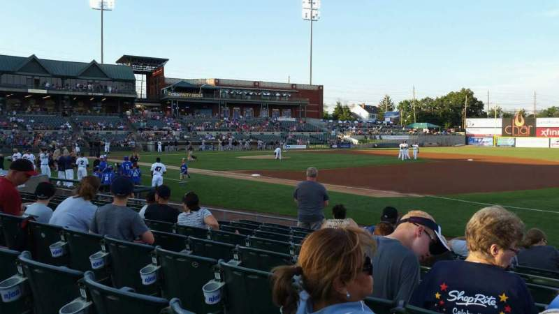 Seating view for TD Bank Ballpark Section 119 Row I Seat 1