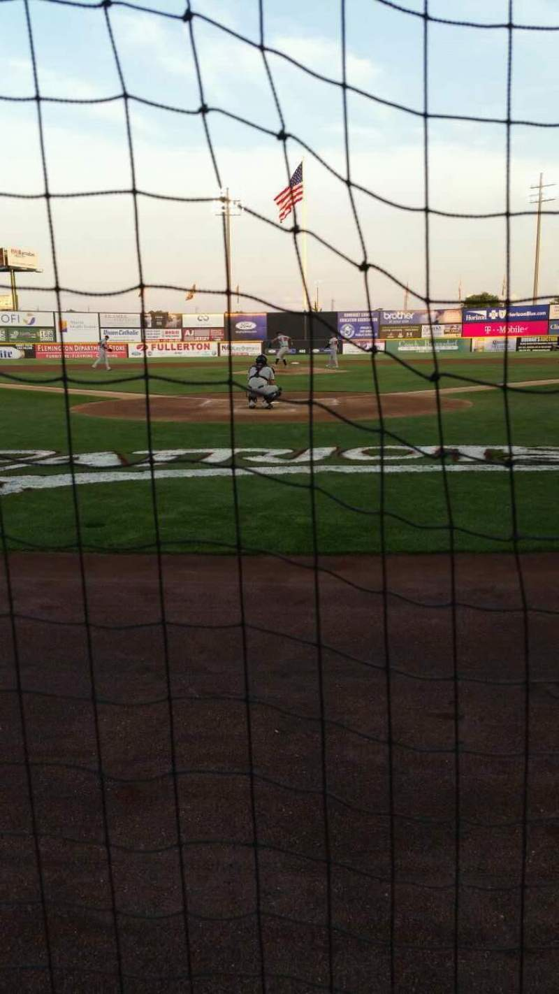 Seating view for TD Bank Ballpark Section 101 Row A Seat 8