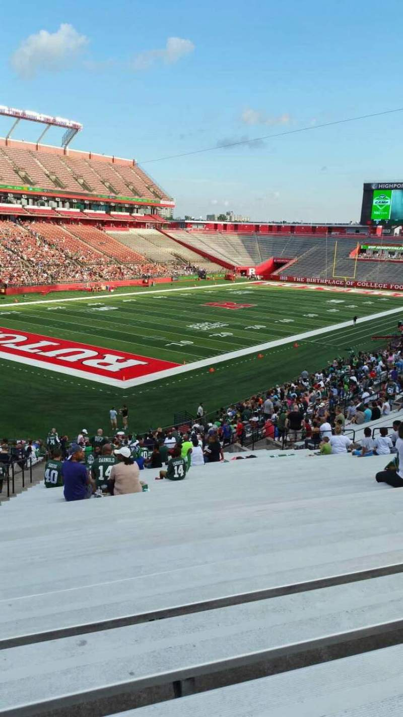 Seating view for High Point Solutions Stadium Section 111 Row 40 Seat 30
