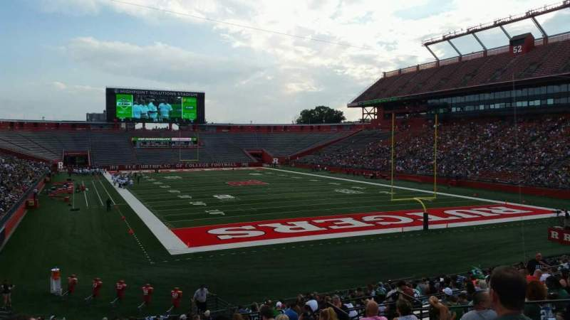 Seating view for High Point Solutions Stadium Section 118 Row 25 Seat 11