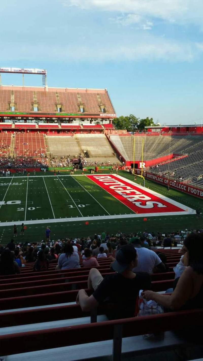 SHI Stadium, section 103, home of Rutgers Scarlet Knights