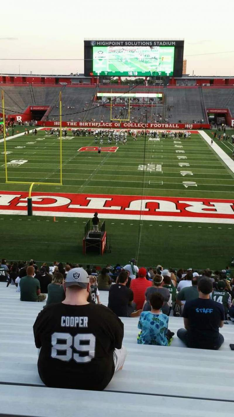 Seating view for High Point Solutions Stadium Section 115 Row 36 Seat 10