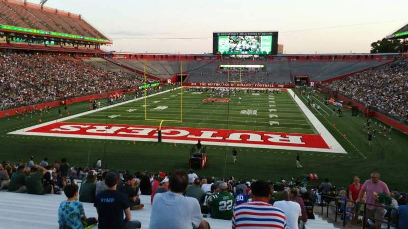 Seating view for High Point Solutions Stadium Section 115 Row 34 Seat 4