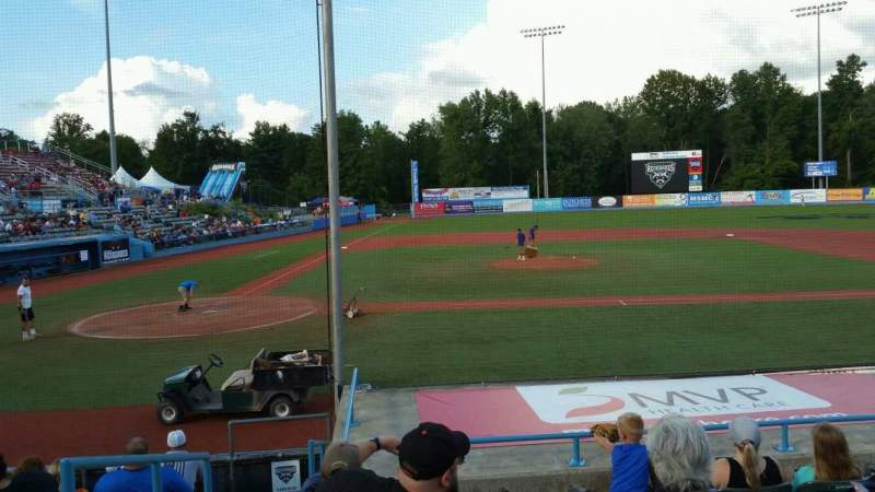 Dutchess Stadium, section: 103, row: J, seat: 1