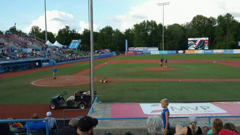 Seating view for Dutchess Stadium Section 103 Row J Seat 2