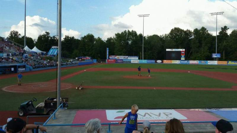 Seating view for Dutchess Stadium Section 103 Row J Seat 3