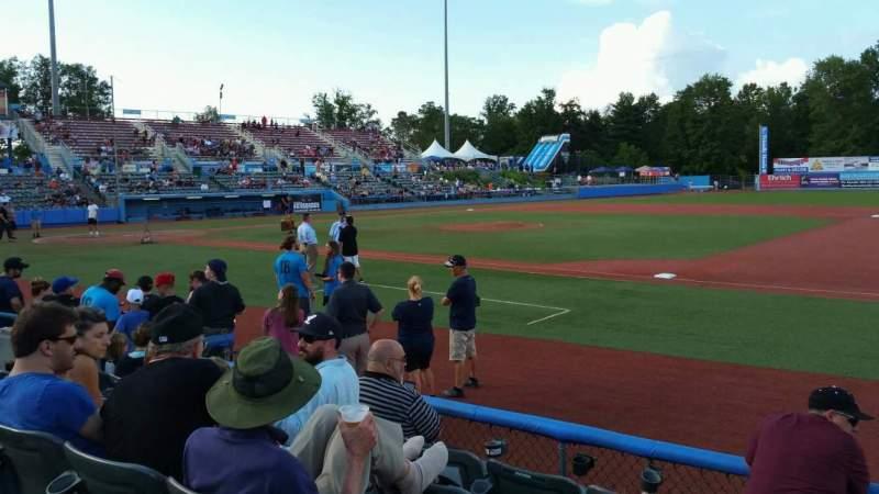 Dutchess Stadium, section: 101.5, row: E, seat: 11
