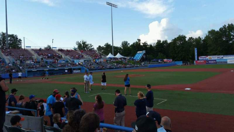 Seating view for Dutchess Stadium Section 101.5 Row E Seat 8