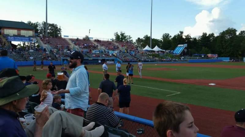 Dutchess Stadium, section: 101.5, row: D, seat: 11
