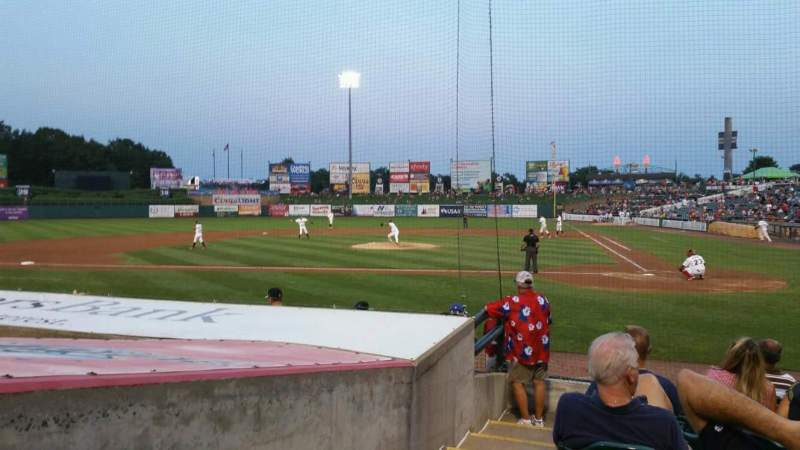 Seating view for FirstEnergy Park Section 110 Row 10 Seat 19