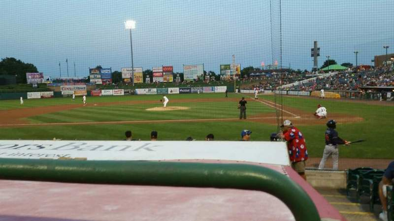 Seating view for FirstEnergy Park Section 111 Row 10 Seat 1