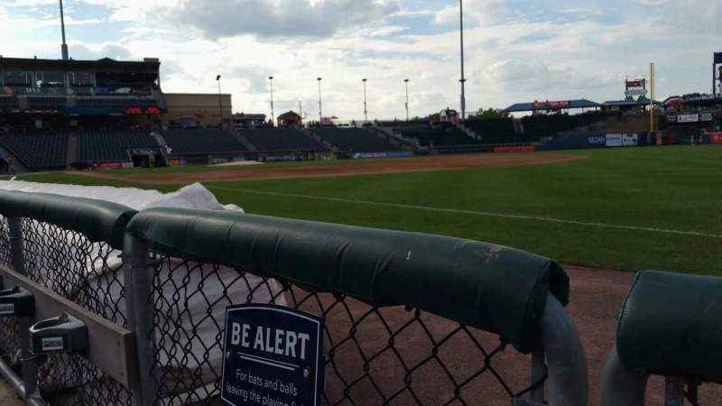 Seating view for Coca-Cola Park Section 103 Row A Seat 1