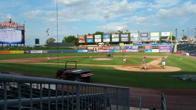 Seating view for Coca-Cola Park Section 114 Row J Seat 10