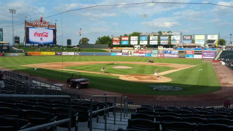 Seating view for Coca-Cola Park Section 113 Row V Seat 13