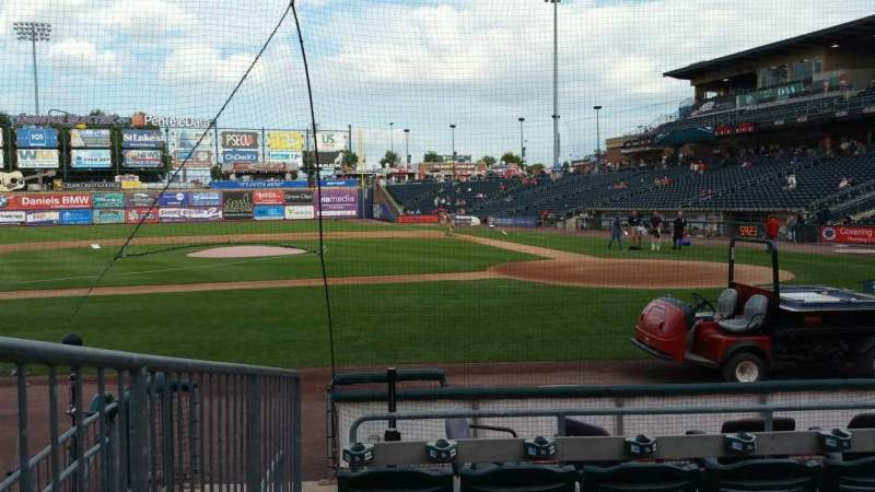 Seating view for Coca-Cola Park Section 116 Row G Seat 11