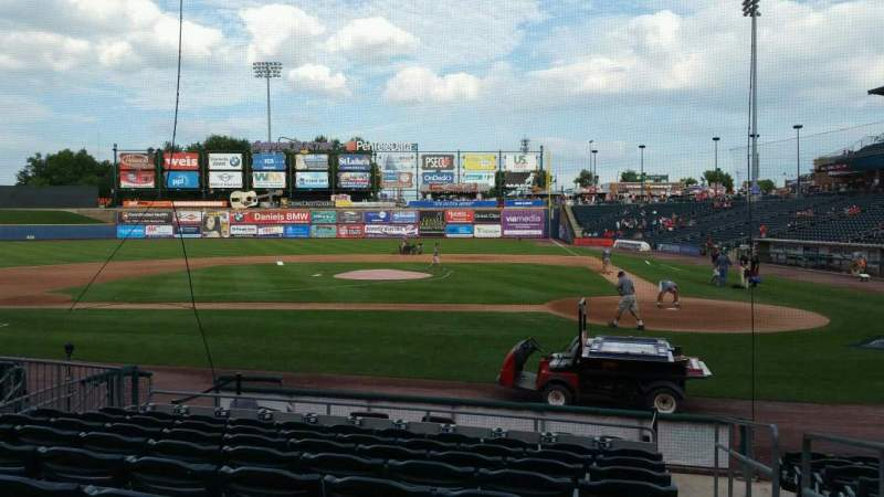 Seating view for Coca-Cola Park Section 116 Row L Seat 1