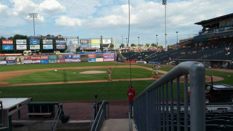 Seating view for Coca-Cola Park Section 116 Row L Seat 13