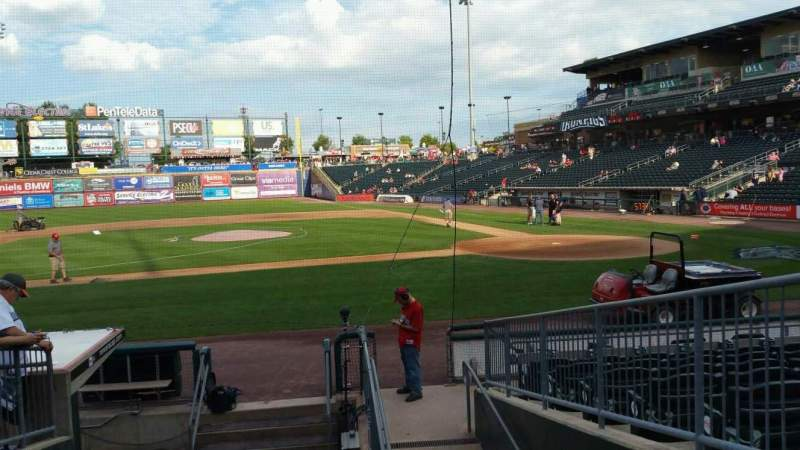 Seating view for Coca-Cola Park Section 116 Row L Seat 16