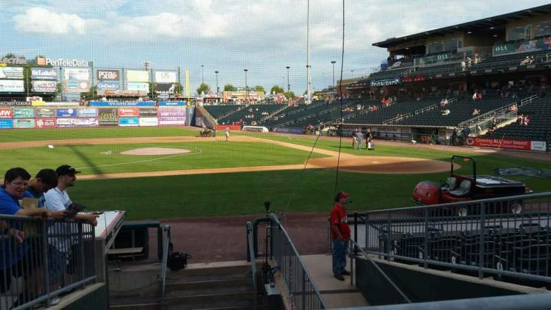 Seating view for Coca-Cola Park Section 116 Row L Seat 18