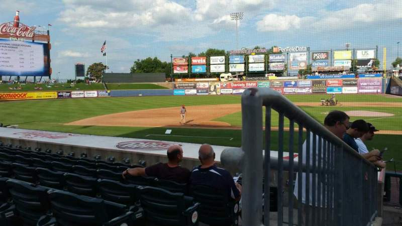 Seating view for Coca-Cola Park Section 116 Row L Seat 20