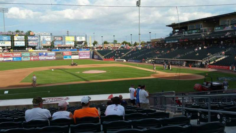 Seating view for Coca-Cola Park Section 117 Row U Seat 4