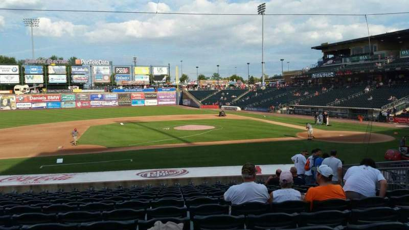Seating view for Coca-Cola Park Section 117 Row U Seat 8