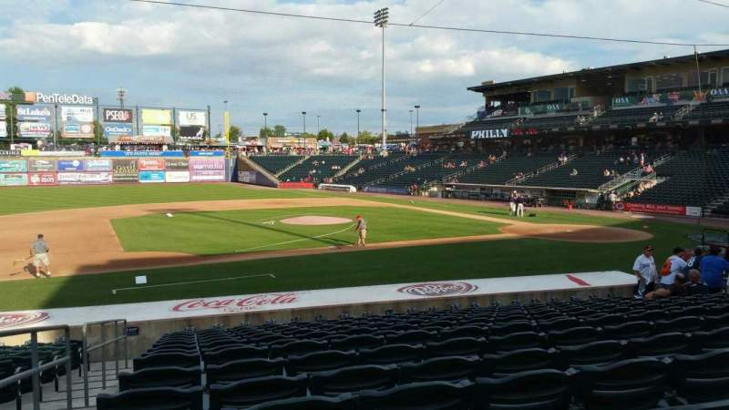 Seating view for Coca-Cola Park Section 117 Row U Seat 20