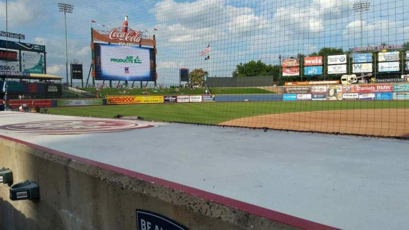 Seating view for Coca-Cola Park Section 117 Row E Seat 20