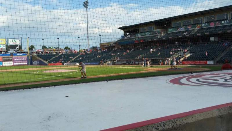 Seating view for Coca-Cola Park Section 117 Row E Seat 14