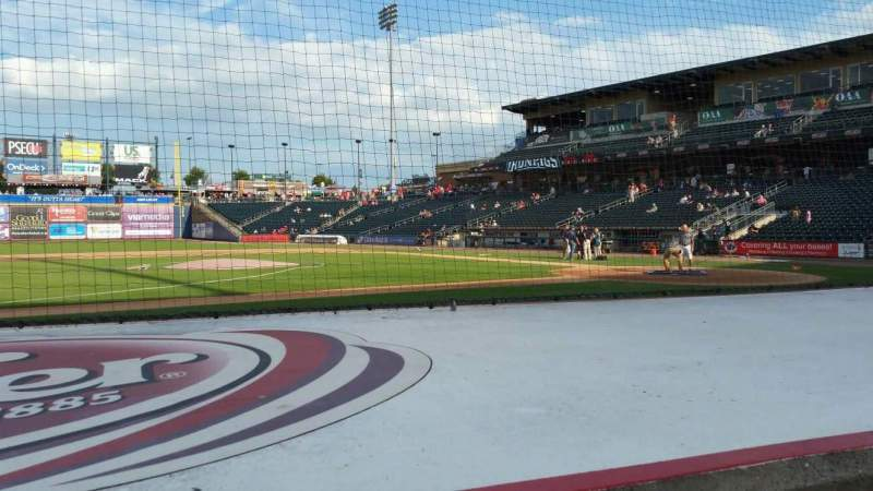 Seating view for Coca-Cola Park Section 117 Row E Seat 8