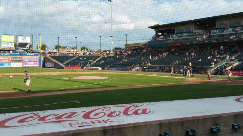Seating view for Coca-Cola Park Section 117 Row H Seat 20