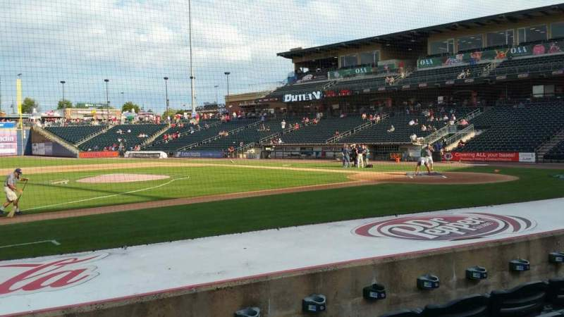 Seating view for Coca-Cola Park Section 117 Row H Seat 17