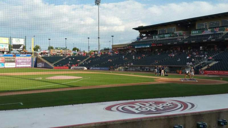 Seating view for Coca-Cola Park Section 117 Row H Seat 14