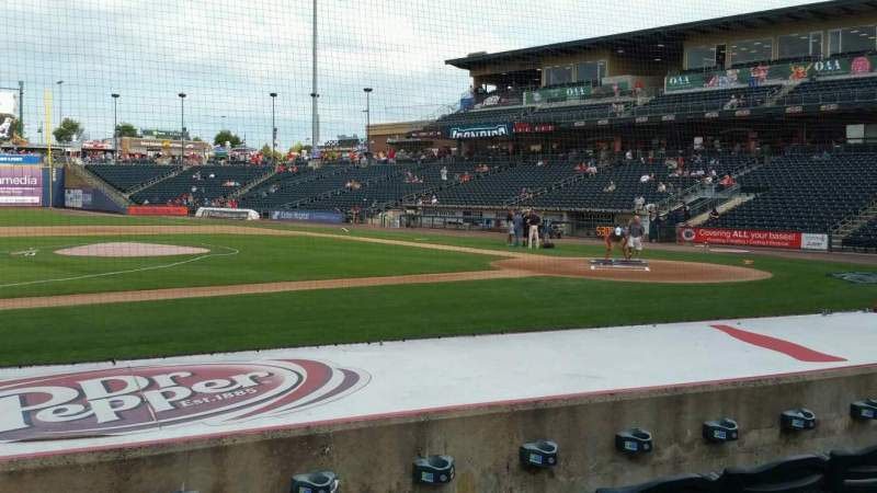 Seating view for Coca-Cola Park Section 117 Row H Seat 10