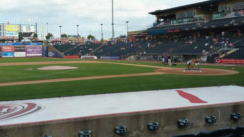 Seating view for Coca-Cola Park Section 117 Row H Seat 7