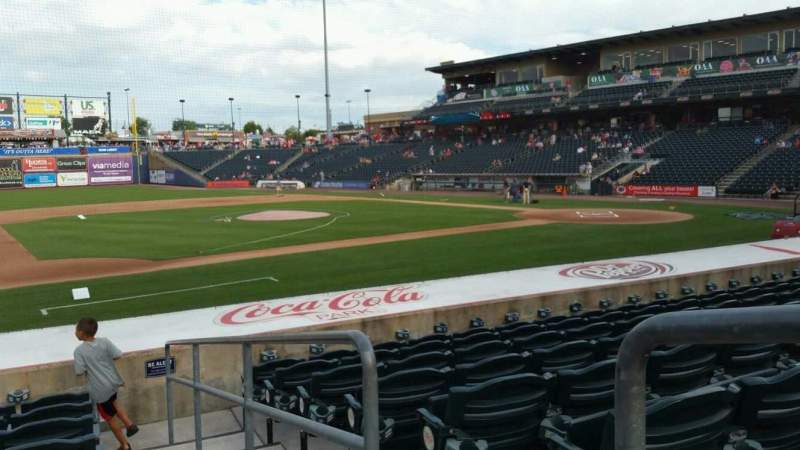 Seating view for Coca-Cola Park Section 118 Row M Seat 1
