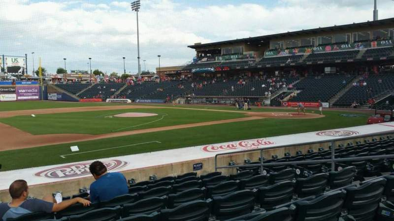 Seating view for Coca-Cola Park Section 118 Row M Seat 8