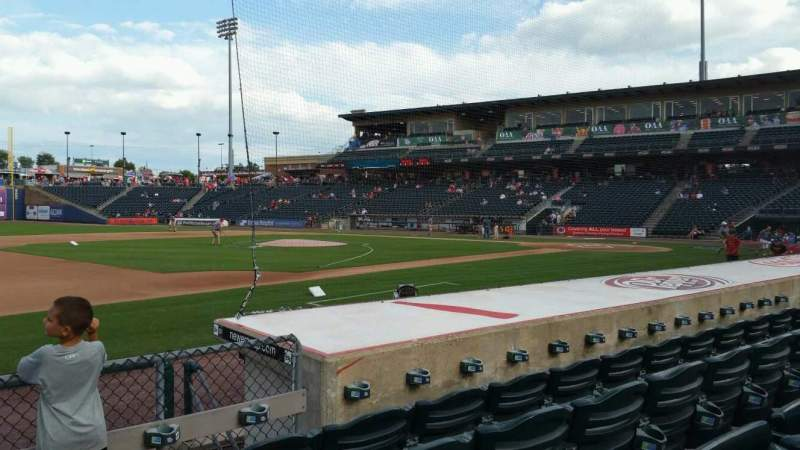 Seating view for Coca-Cola Park Section 118 Row H Seat 20