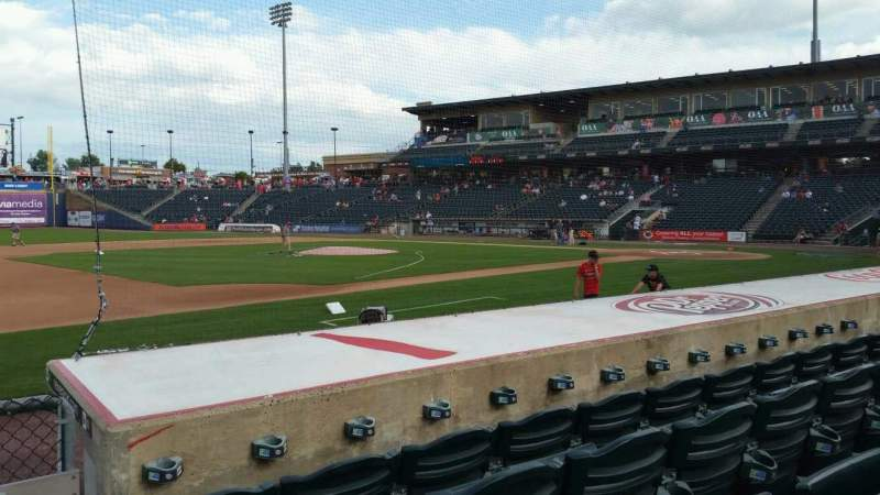 Seating view for Coca-Cola Park Section 118 Row H Seat 17