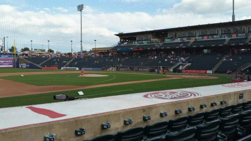 Seating view for Coca-Cola Park Section 118 Row H Seat 14