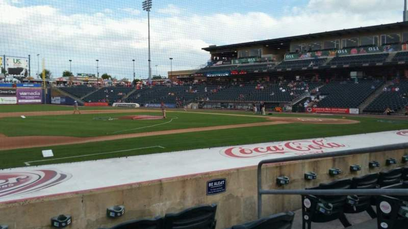 Seating view for Coca-Cola Park Section 118 Row H Seat 4