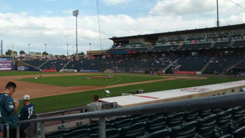 Seating view for Coca-Cola Park Section 119 Row K Seat 1