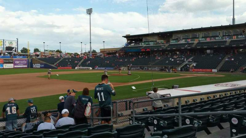 Seating view for Coca-Cola Park Section 119 Row K Seat 5