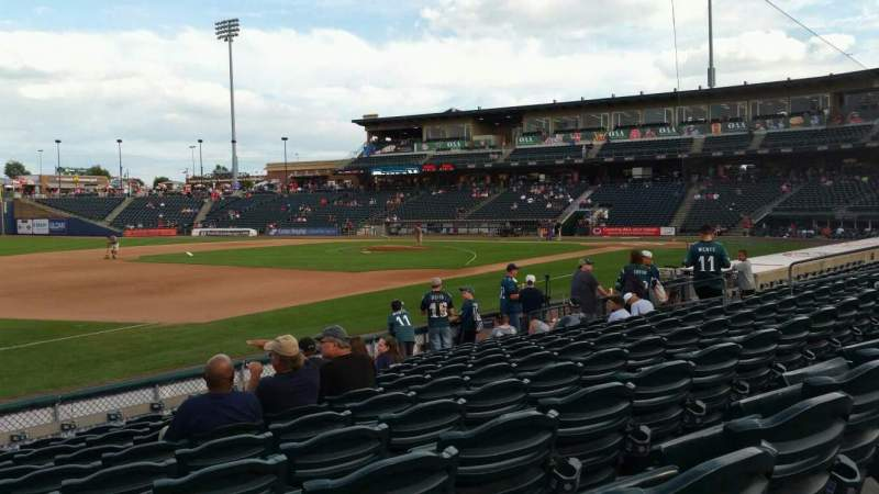 Seating view for Coca-Cola Park Section 119 Row K Seat 20