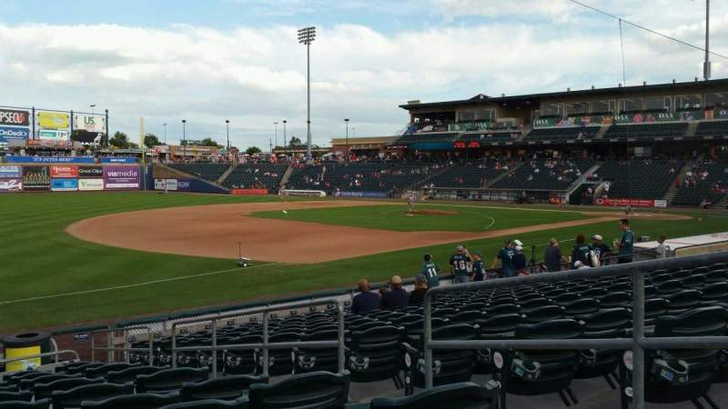 Seating view for Coca-Cola Park Section 120 Row P Seat 4